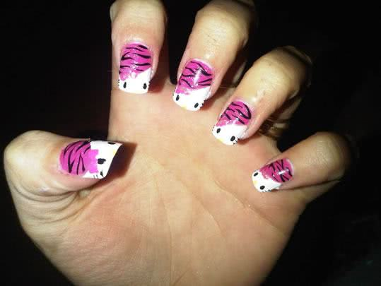 Unhas super criativas da Hello Kitty