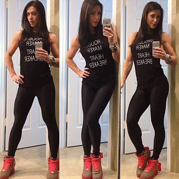 Look de malhar da Bella Falconi