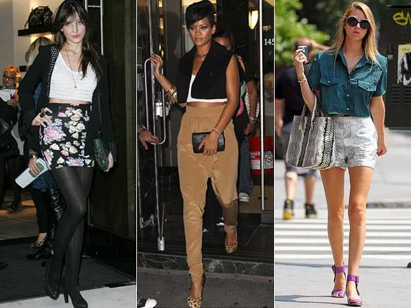 DAISY LOWE – RIHANNA - WHITNEY PORT | Looks com Cropped Top
