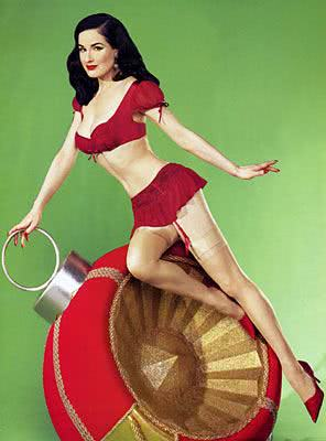 Dita Vonteese, estilo pin-up