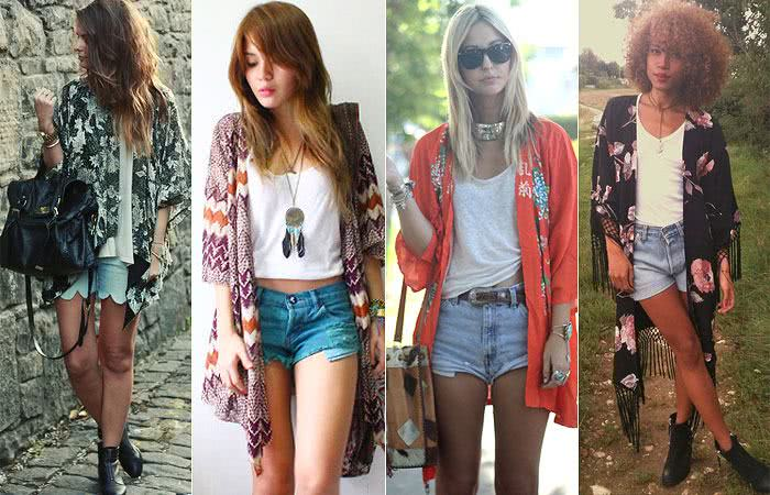 Looks com shortinhos jeans