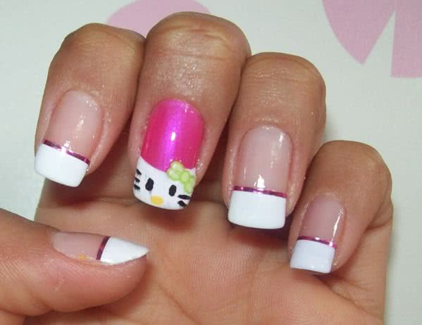 Unhas da Hello Kitty