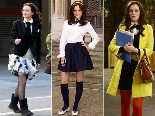 Blair Waldorf - belos looks para escola